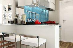 +100 Modelos de Cozinha Americana Planejada Pequena