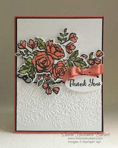 Made this card using the Petal Palette bundle and Petal Pair Embossing folder for a team meeting make & take. Product List Petal Palette Clear-Mount Bundle [145974] $62.00 Tuxedo Black Memento Ink Pad [132708] $6.00 Calypso Coral Stampin' Blends Markers...