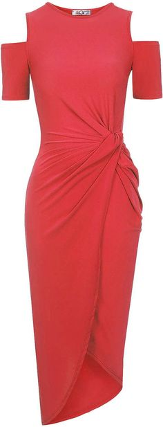 Womens coral red dress from Topshop - £30 at ClothingByColour.com