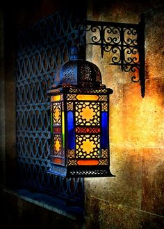 A lamp that has stained glass and a lot of complex designs Moroccan Lighting, Moroccan Lamp, Moroccan Lanterns, Moroccan Design, Moroccan Style, Turkish Lamps, Lantern Lamp, Candle Lanterns, Hd House
