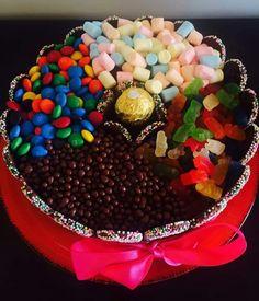 Torta chocolate lenteja gomita ferrero