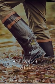 Find out how French company Aigle became a leading brand in country footwear: Shooting Clothing, French Clothing Brands, Shooting Accessories, Deconstruction, Traditional Dresses, Riding Boots, Britain, Gun, Footwear