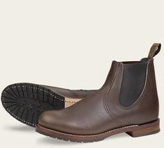 "6"" CHELSEA, WALNUT - Smooth Finish Leather"