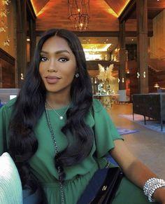 Pretty Black Girls, Beautiful Black Women, Maquillage Black, Selfie Foto, Black Hair Inspiration, Bougie Black Girl, Luxury Lifestyle Women, Brown Skin Girls, Long Layered Hair