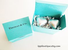 Tiffany & Co. Inspired Personalized Favor Boxes (12)  DIY