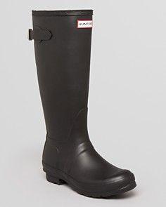 Hunter Rain Boots - Original Back Adjustable, Size 9
