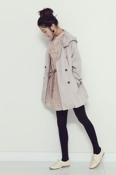 modern vintage♥ #kfashion #coat #shoes