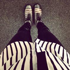 "//Outfit of the day - "" Ringlets & Stripes""  Söckchen: Hudson, Leggings: Kunert, Bluse: Primark, Schuhe: Deichmann  xoxo loo"