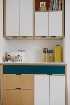 Birch Plywood kitchen, designed to maximise the space.