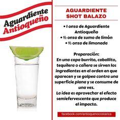 ¡Aguardiente Antioqueño combina con todo! #Aguardiente #Antioqueño #Coctel #Cocktail #ShotBalazo Cocktails, Non Alcoholic Drinks, Cocktail Drinks, Cocktail Recipes, Beverages, Vodka, Tequila, Fonda Paisa, Gin