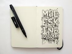 Moleskine Doodle sketch - Kerby Rosanes Doddles | I love to see great doodles in notebooks. As a designer, this is something I have done myself over the years. This set of stunning sketches, however, were drawn by creative, Kerby Rosanes. I think the originality and amount of detail in these works are fantastic.