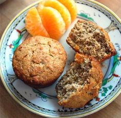 Gluten Free and Gout Friendly Dark Bran Muffins, use dried cherries for some extra Gout Friendly flavor
