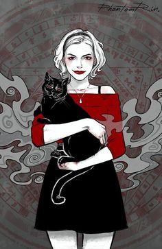 """At first I wasn't enthused by the upcoming """"Chilling Adventures of Sabrina. - illu and comic - Adventure Archie Comics, Kiernan Shipka, Movies And Series, Sabrina Spellman, Psy Art, Witch Art, Illustration, Film Serie, Grand Tour"""