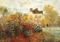 chelsea | The Artist's Garden in Argenteuil Art Print by Claude Monet at Art.com