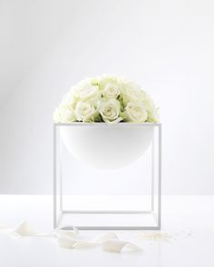 White Kubus By Lassen Bowl- A Perfect Danish and Scandinavian Style Home Decor Accessory.