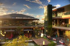 A luxury mall in La Barra, Uruguay, combines the traditional with the modern in an exclusive environment.