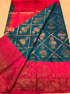 Elegant Fashion Wear Explore the trendy fashion wear by different stores from India Dupion Silk Saree, Silk Saree Kanchipuram, Wedding Silk Saree, Indian Silk Sarees, Kanjivaram Sarees, Cotton Saree, Organza Saree, Saree Blouse Patterns, Saree Blouse Designs