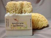 Natural Sea Sponge Goats Milk Soaps
