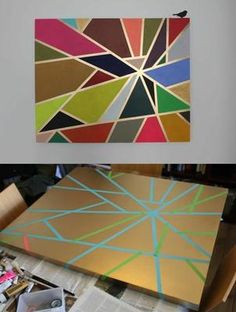 Pin by allie lambe on art / diy diy painting, tape painting,
