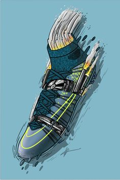 "Football Art - Nike Mercurial Superfly 4 ""Electro Flare"""