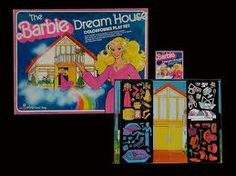 1979 - 1981  BARBIE DOLL A Frame DREAM HOUSE COLORFORMS PLAY SET unused COMPLEte