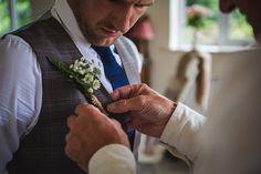 Buttonhole Groom Fern Twine Whimsical Greenery Nature Wedding http://lunaweddings.co.uk/