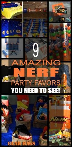 9 amazing nerf party favors for boys and girls. Kids will love these unique nerf party favors.