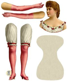 L&B (Littauer & Boysen) Berlin, Germany — Articulated Doll 'Prima Donna Lily Langtry', 1880's    (539x650)