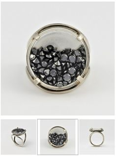Ann Demeulemeester Black Diamond Ring at Dover Street Market