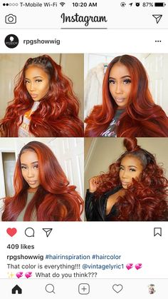 INSPIRED BY THE HAIR COLOR, STYLES, AND DENSITY. THIS RED IS IDEAL