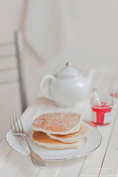 brunch The perfect breakfast! Breakfast Pancakes, Pancakes And Waffles, Breakfast Time, Health Breakfast, Great Recipes, Favorite Recipes, Tea Sandwiches, Crepes, Love Food
