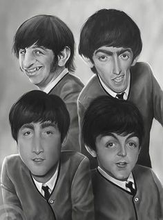 Caricature The Beatles