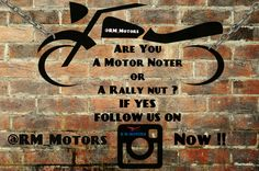 Are you a ‪#‎Motor‬ ‪#‎Noter‬ or A ‪#‎rally‬ ‪#‎Nut‬ ?  If Yes Follows us on Instagram RM Motors  ‪#‎RMMotors‬‬ ‪#‎Follow‬ ‪#Instagram