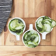 Pickled cucumber from @funkiskoket in beautiful Japanese ceramics from funkis
