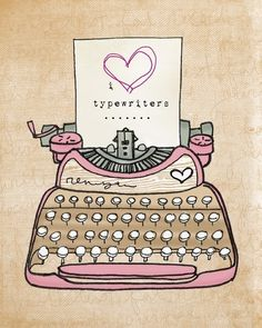 I love typewriter font.I love the way typewriters sound.I got a typewriter tatto ! Retro, Posca Art, Vintage Typewriters, Cute Illustration, Art Illustrations, Planner Stickers, Canvas Art Prints, Doodles, Clip Art