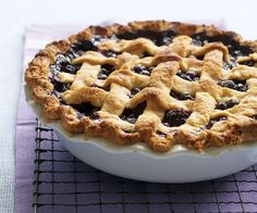 Black & Blueberry Pie with Lemon-Cornmeal Crust by Fine Cooking