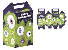 Caja halloween ojos monstruo, Descargables Halloween niños
