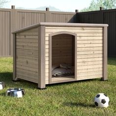 New Doreen Dog House by Archie Oscar top rated furniture sale. Fashion is a popular style Outdoor Shelters, Outdoor Dog, Contemporary Dog Houses, Wood Dog House, Dog House Kit, Big Dog House, Pallet Dog House, Duck House, Plastic Dog House