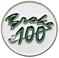 Mark Your Spot with Broke 100 Ball Marker! Celebrate your groundbreaking game!