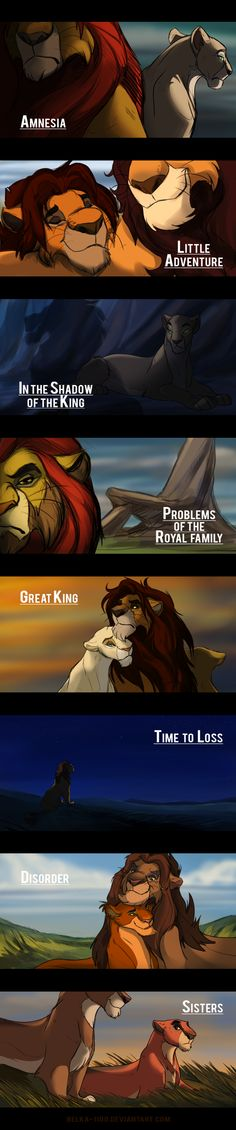 The Lion King comics preview by Belka-1100 on DeviantArt