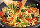 Chicken & Noodle Stir-Fry - The Pampered Chef® (using PC Asian Seasoning) Asian Seasoning, Seasoning Mixes, Food Dishes, Main Dishes, Dishes Recipes, Chicken Stir Fry With Noodles, Asian Stir Fry, Pampered Chef Recipes, Chicken And Vegetables