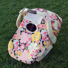 Fitted Infant Car Seat Canopy Cover - Single Layer. $39.00, via Etsy.