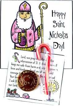 Notecard to Print - St. Printable Prayers, Free Printable Cards, Nick Games, St Nicholas Day, Mini Candy Canes, Holiday Activities, Classroom Activities, Craft Free, Prayer Cards