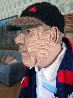 knitting man by liisa hietanen