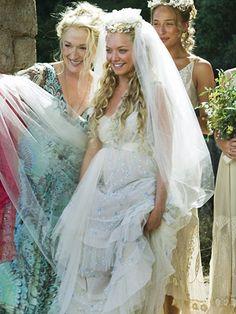 Mamma Mia!, Amanda Seyfried, ...   Love the layered lacy frock that Sophie (Amanda Seyfried) wore.