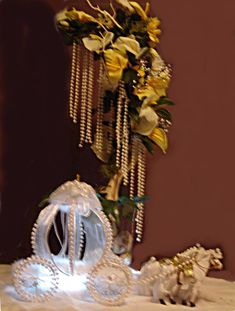 We make custom themed centerpieces and displays for any event or occasion, weddings, parties, celebrations of any kind.