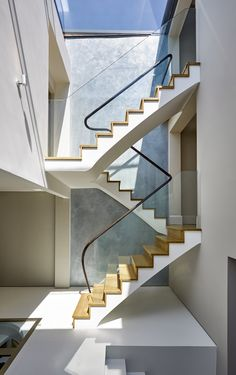 Walton Street Oxford - Anderson Orr Architects conservation project - contemporary staircase, Edwardian townhouse, by Bisca Stairs