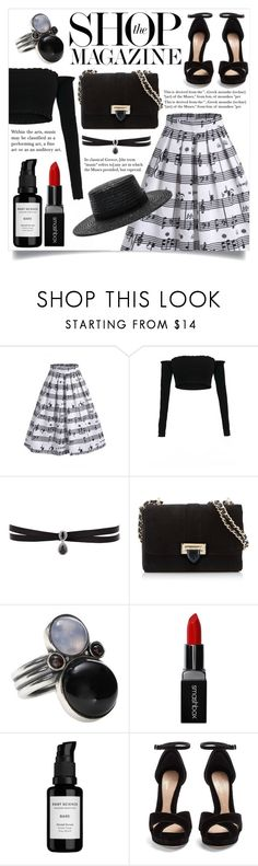 """One with the Music"" by cianne-hale ❤ liked on Polyvore featuring Music Notes, Fallon, Aspinal of London, Bottega Veneta, Smashbox, Root Science, Alexander McQueen, L*Space and vintage"