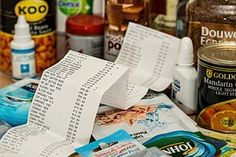 ショッピング, 支出, スリップをまで, 購入, 小売, ショップ, 顧客