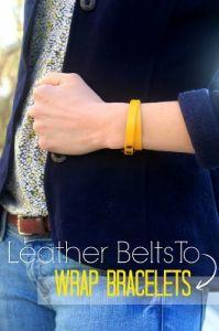 DIY Leather Belt Wrap Bracelets - Jewelry Making